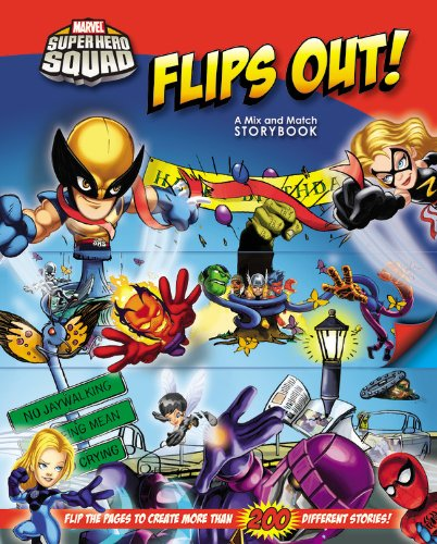 Download Super Hero Squad Flips Out! A Mix and Match Book (Marvel Super Hero Squad) PDF