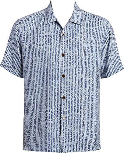 Tommy Bahama Paloma Paisley Camp Shirt - Dress Blues - Paisley Camp Shirt