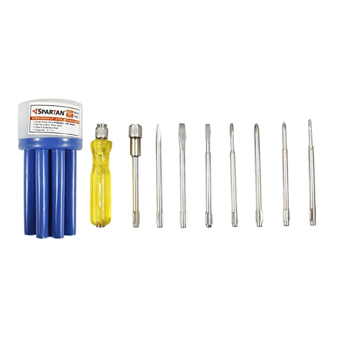 Spartan BS-02 8-Pieces Screwdriver Kit (Multicolour): Amazon.in: Home Improvement