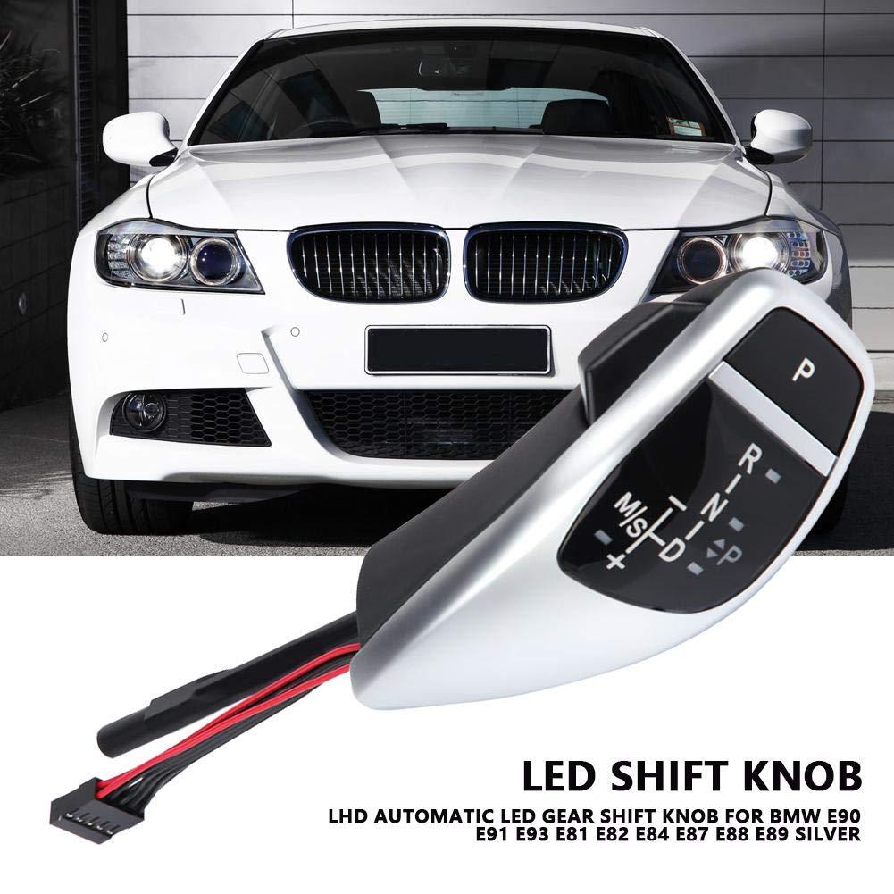KIMISS LED Automatique Pommeau Levier de Vitesse pour E90 E91 E93 E81 E82 E84 E87 E88 E89 Noir jais