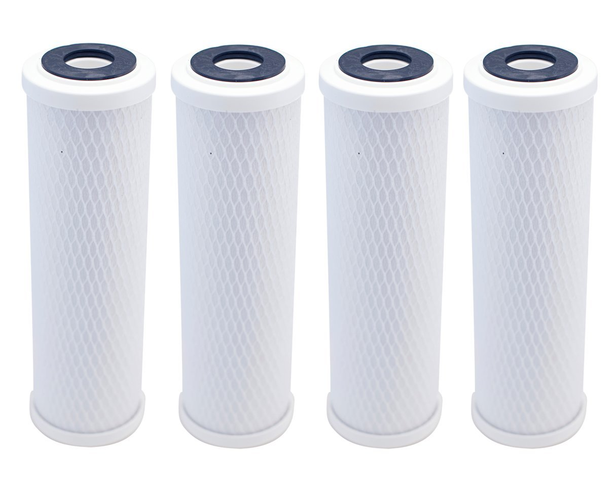 9-3//4 x 2-7//8 5 Micron Replacement Water Filters IPW Industries Inc 4 Pack 10 Carbon Block Coconut Shell Filter Cartridge