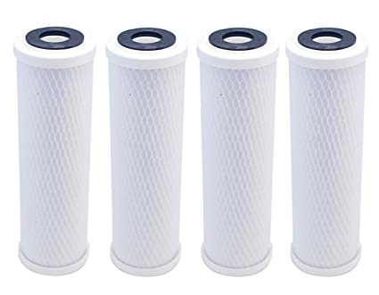 9-3//4 x 2-7//8 IPW Industries Inc 4 Pack 10 Carbon Block Coconut Shell Filter Cartridge 5 Micron Replacement Water Filters