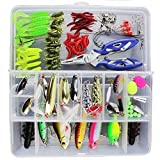 Isafish 100 pcs / Lures Fishing KIT Tackle Box White