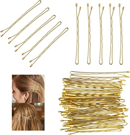 MORGLES 120 Pcs Hair Pins Hair Grips Black for Women with Box Black, 5 cm//2.2 Inches Bobby Pins