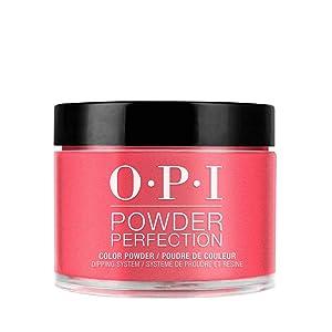 OPI Powder Perfection, Red Dipping Powder Nail Color