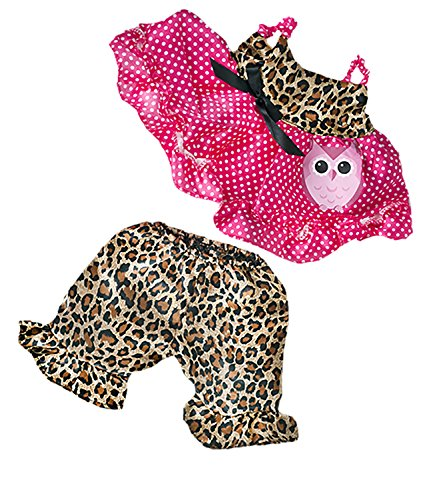 Cute Leopard Owl Teddy Bear Clothes Fits Most 8