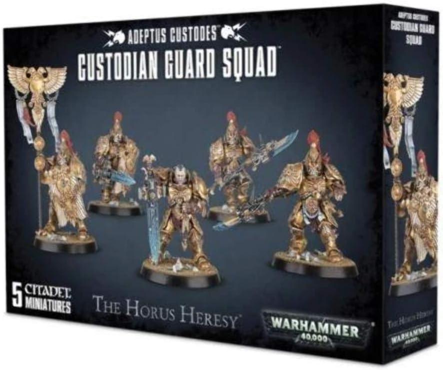 Games Workshop Warhammer 40k Custodian Guard Squad: Amazon.es: Juguetes y juegos