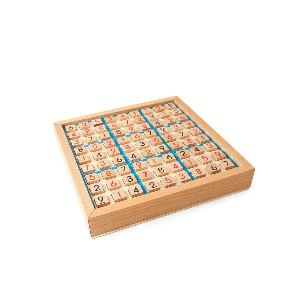 QARYYQ Wooden Sudoku Game Adult Logic Thinking Jiugongge Sudoku Chess Children's Early Learning Puzzle Board Game Toys Toy by QARYYQ