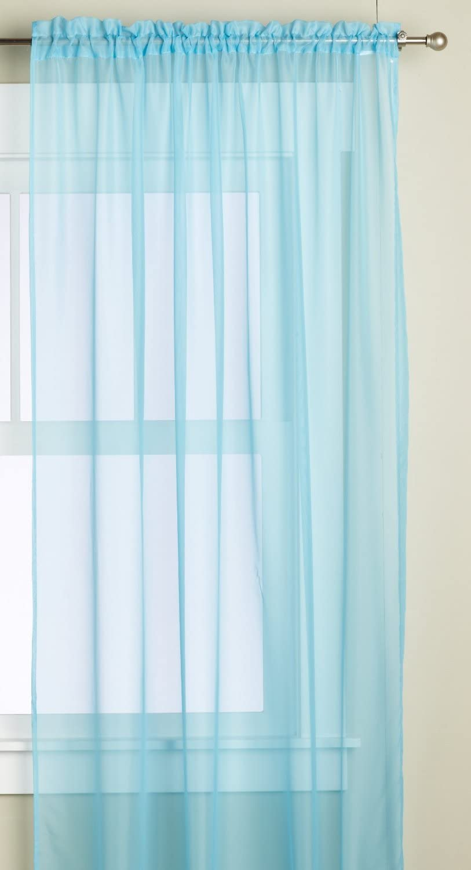Editex Home Textiles Monique Sheer Window Panel, 55 by 84-Inch, Aqua