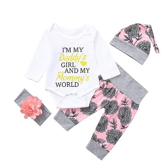 Ropa Bebé, ❤ Modaworld Recién Nacido Infantil Bebé niños niñas Carta Letter Romper Tops