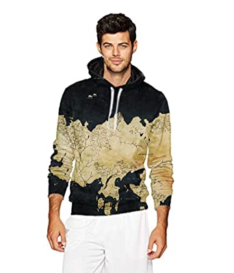 Amazon mens 2018 fashion athletic sweatshirts earth world map earth world map art 3d printed sweater for men unisex casual hoodies gumiabroncs Image collections