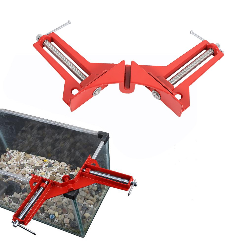 Red 90 Degree Right Angle Corner Clamp Fixture Picture Frame Holder Wood working Tool Hot