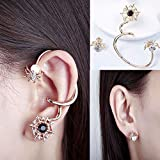 Sumanee Fashion Gold Plated Spider Earrings Cuff Asymmetrical Ear Stud Women Jewelry NEW