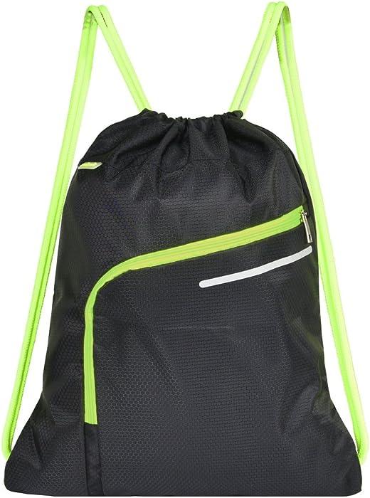 4d89ef6a63e0 Saigain Men & Women Large Sport Gym Sack Drawstring Backpack Bag(Black,Grey,