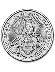 2018 UK Great Britain 1 oz Platinum Queen's Beasts The Griffin 1 OZ Brilliant Uncirculated