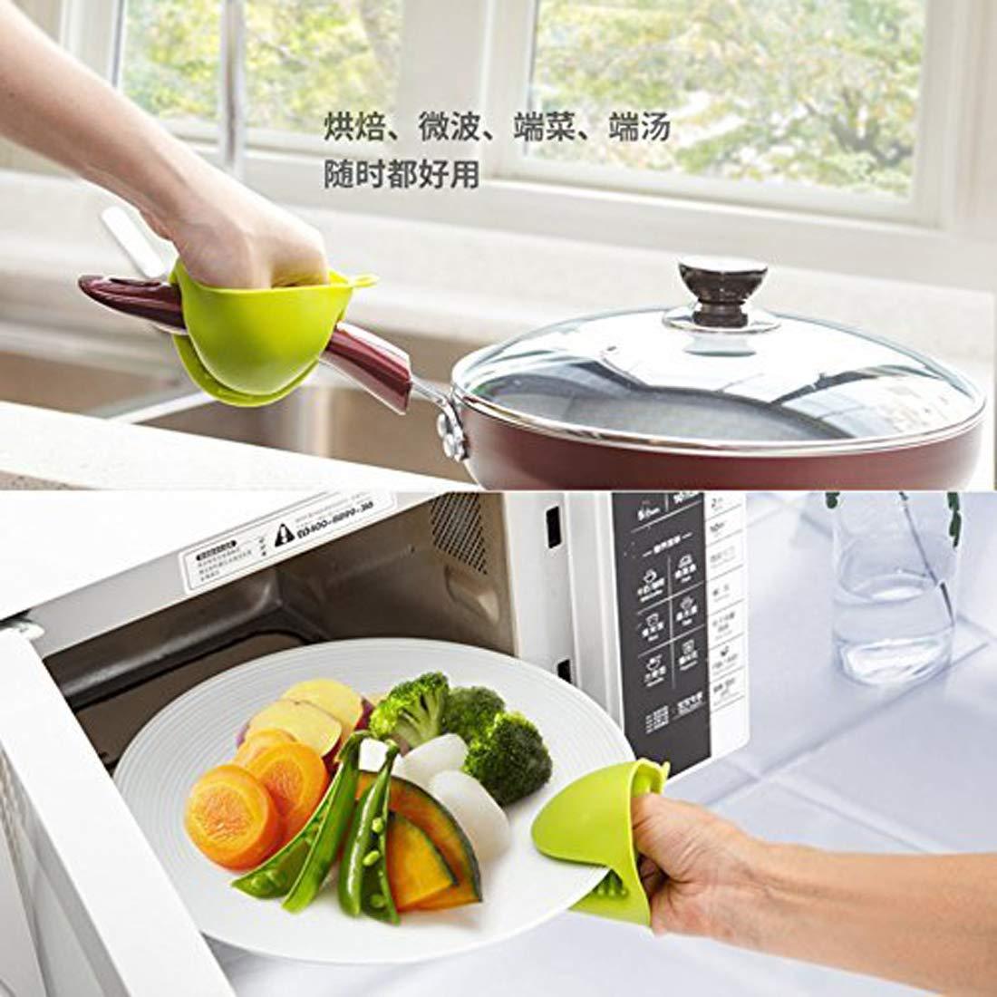 aprobado por la FDA apto para uso alimentario de silicona guantes de horno de silicona manopla guantes resistentes al calor guantes de pellizco de cocina mini cocina Grab Set Mini guante de horno