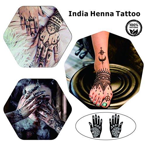 Henna Tattoos Kits 9 Color Temporary Henna Tattoo Paste Cone