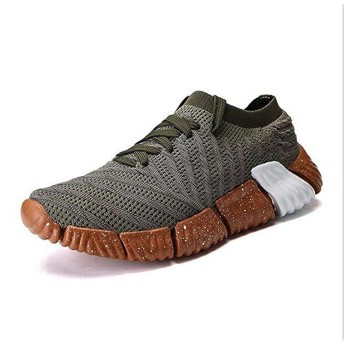 Zapatos atléticos para Hombres, Zapatillas de Escuela de Estudiante de Punto, Zapatillas Bajas,