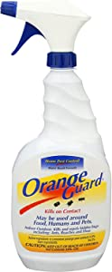 Orange Guard Home Pest Control Spray - Kills and Repels Ants, Roaches, Fleas and More - Water Based Indoor/Outdoor Natural Organic Formula - 32 fl oz