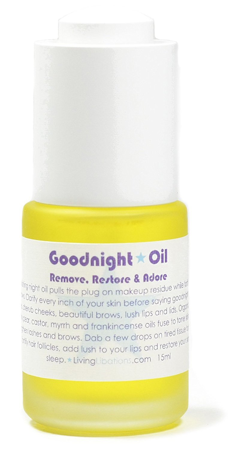 Living Libations - Organic/Wildcrafted Goodnight Oil Eye Makeup Remover (.5 oz/15 ml)