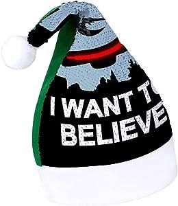 Believe in Toasters Battlestar Galactica Adult Sparkling Green elf Christmas hat Holiday Secret Santa Christmas Ornaments
