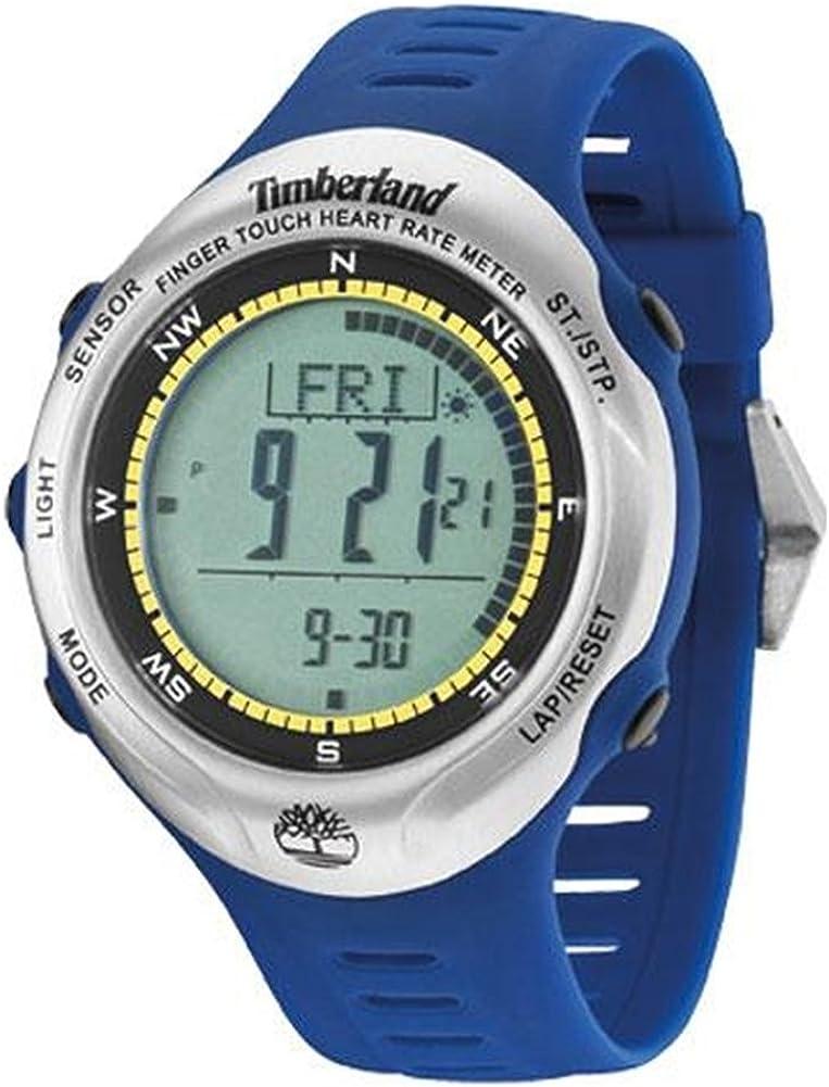 Timberland TBL.13386JPBUS/01 - Reloj Digital de Cuarzo para Hombre con Correa de plástico, Color Azul
