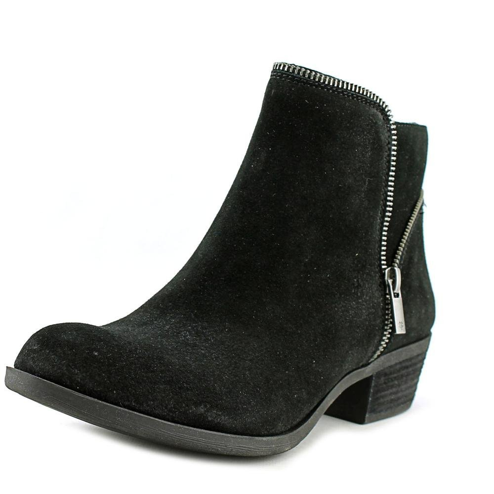 Size 8.0 Lucky Brand Womens Boide Leather Almond Toe Ankle Fashion Boots Black