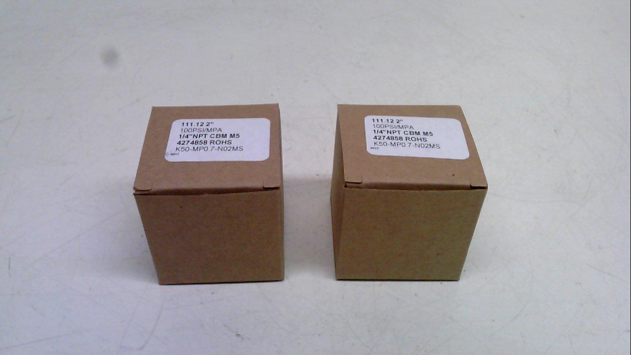 Smc K50-Mp0.7-N02ms - Pack Of 2 - Pressure Gauge, 100Psi/Mpa, 1/4'' Npt K50-Mp0.7-N02ms - Pack Of 2 -