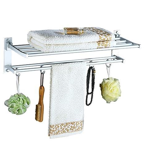 Toallero simple Multifunción plegable de aleación de aluminio y magnesio barra de la toalla montado en
