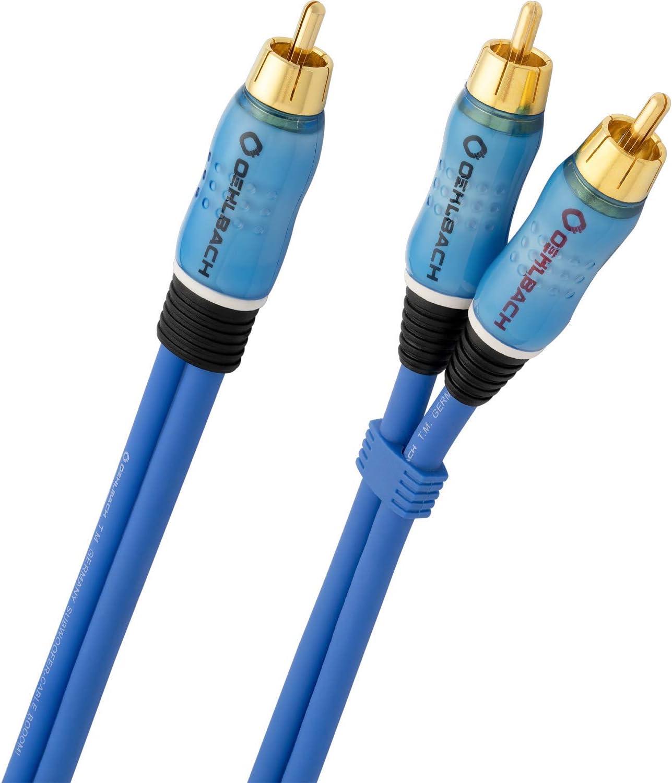 Oehlbach Booom Subwoofer Y Cinch Kabel Blau 15 Elektronik