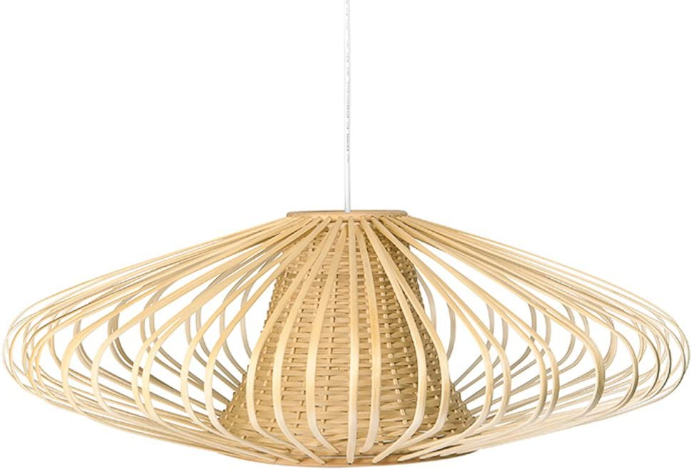 Handwoven Bamboori Discus Pendant Lamp by Kouboo from Amazon.com | Designer Finds: Bringing Natural Elements Into Your Home | Jade and Sage Interior Design | eDesign Tribe Blogs
