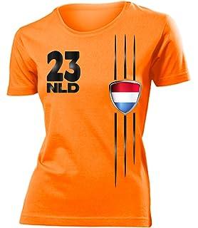 cd539c82f5a2 Niederlande Fussball Fanshirt Fan Shirt tshirt Fanartikel Artikel Frauen  Damen T-Shirts