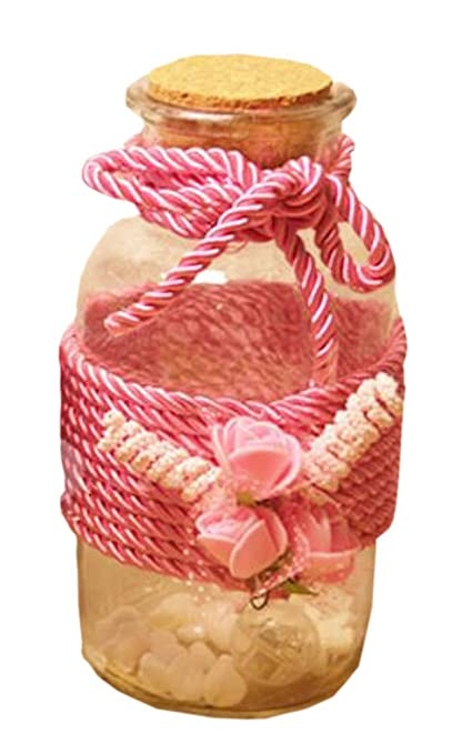 Jarrón de rosas Botella de deseo creativa Botella de vidrio de licitación con tapón de corcho