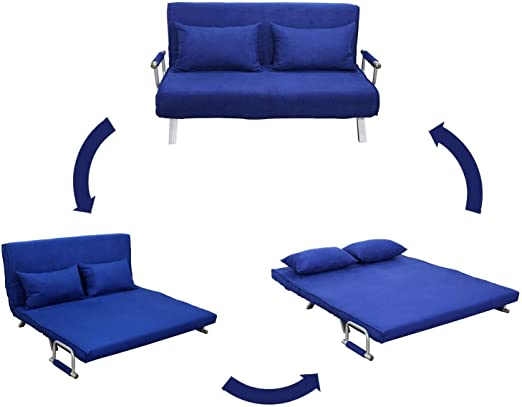 Convertible Futon Sofa Bed Sleeper Mattress Chair Soft Couch Lounge Furniture