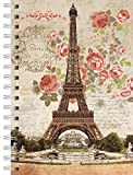 LANG - Spiral-Bound Journal - 'Dreaming of Paris', Artwork by Suzanne Nicoll - 240 Ruled Pages, 6 x 8.25 Inches