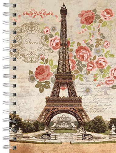 LANG - Spiral-Bound Journal - Dreaming of Paris, Artwork by Suzanne Nicoll - 240 Ruled Pages, 6 x 8.25 Inches