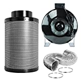 "PrimeGarden 6 Inch Inline Fan Carbon Air Filter Ducting Combo Pre-filter Included for Hydroponics Indoor Grow Tent Ventilation System (Inline Fan Filter Ducting Combo, 6"") Review"