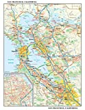 San Francisco, California Wall Map - 11.5 x 14.5 inches - Paper - Flat Tubed