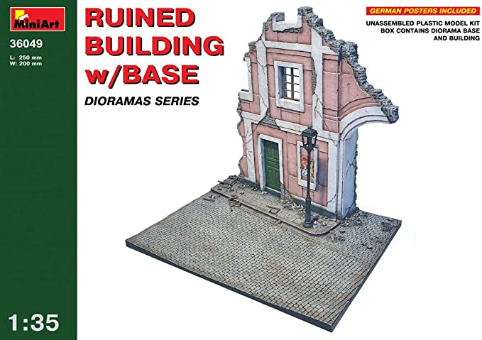 Miniart 35519 Ruined City Building 1//35 Scale
