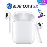 Cuffie Bluetooth, Wireless 5.0 Auricolari Bluetooth IPX7 impermeabili Cuffie audio 3D Surround Cuffie sportive Microfono incorporato Cuffie intrauricolari per IOS Apple Airpods Android