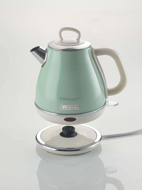 Ariete 2868 Bollitore Hervidor Vintage, 1 litro, 2000 W, Verde: Amazon.es: Hogar