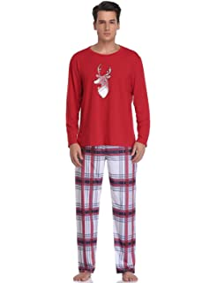 8eb01e7cb9ca4 Abollria Pyjamas de Noël en Famille pour Papa Maman Bébé Enfanr Ensemble de  Pyjama de Noël
