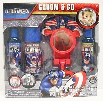 Marvel Captain America Groom And Go Kids Bath Set