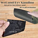 Sandpaper and Sanding Block Sander Kit VenKoda 128PCS 120 to 3000 Grit Sand Paper Assortment Drywall Sanding Sheets Wet Dry Sandpaper for Wood Furniture, Automotive Metal Finishing and Polishing