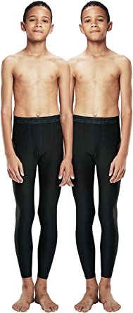 DEVOPS Boys 2-Pack UPF 50+ Compression Tights Sport Leggings Baselayer  Pants: Clothing - Amazon.com