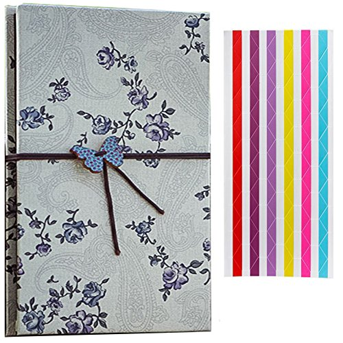 Creative Retro Scrapbooks Photo Albums - BGOING Cloth Hardcover Kraft Paper Folding Picture Holders for Holding Up to 4 x 6 Inch Photos DIY Sketchbook ,Polaroid Films Photos,fujifilm Instax (6x6 Mini Scrapbook)