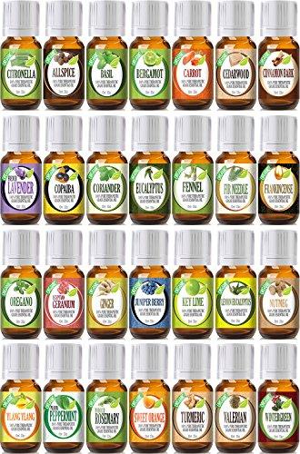 Лучший из лучших портфолио с Смешивание бутылки 28 (органическая) 100% Pure терапевтической степени чистоты Эфирное масло набор - 28/10 мл