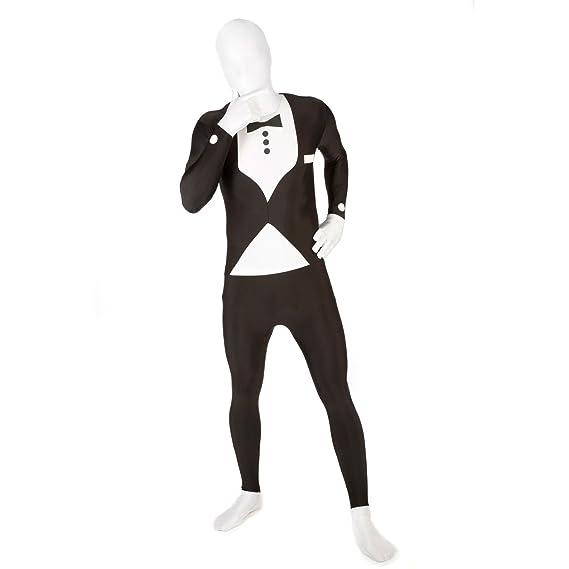 Morphsuits Adultos MSUIT Todo en uno Azul Traje de Disfraz de Halloween - Tamaño Mediano - 5-54 (150cm-162cm)