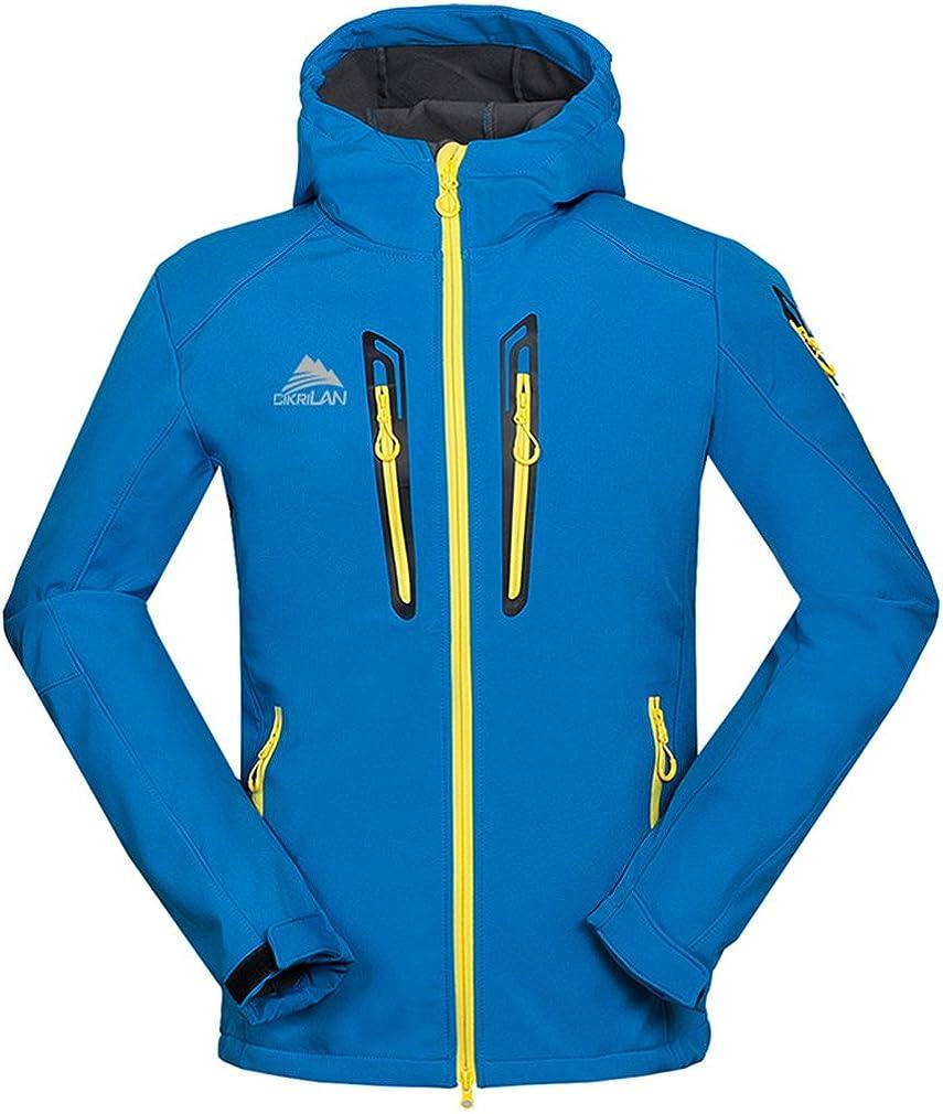 CIKRILAN Men's Outdoor Soft Shell Fleece Lining Sports Jacket Hooded Warm Coat
