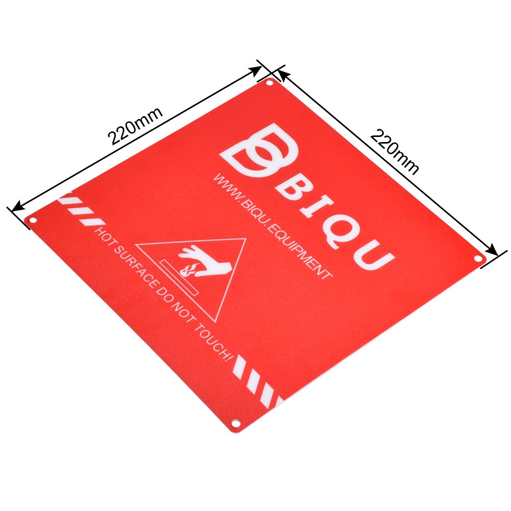 BIQU 3D Printer Build Surface with 3M Sticker 3D Printer Heated Bed Sheet for Creality CR-10 CR-10S 8.66 Round Glass Plate and Heated Pack of 4